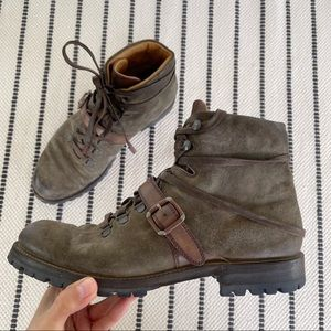 Berluti Brunico Suede Leather Hiking Boots Sz 7.5